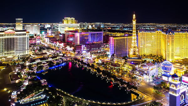 The Las Vegas Strip from Above at Night