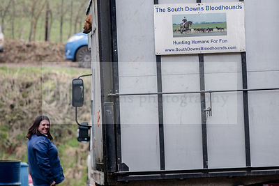 South Downs Bloodhounds Meet at Houghton photos