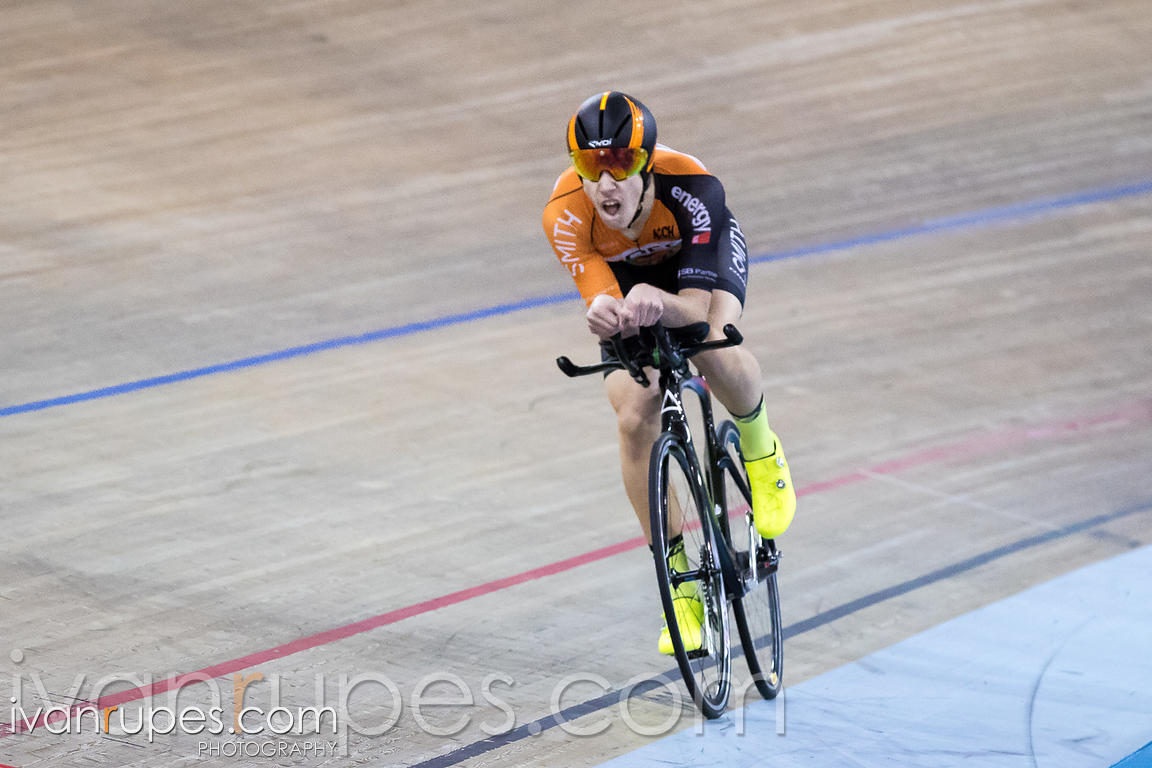 U17 Men Individual Pursuit Final. 2016/2017 Track O-Cup #3/Eastern Track Challenge, Mattamy National Cycling Centre, Milton, On, February 11, 2017