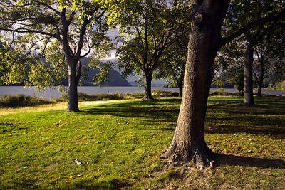 Parkland along the Hudson River, New York
