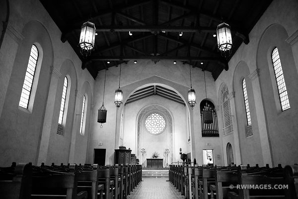 SANTA BARBARA UNITARIAN SOCIETY CHURCH BLACK AND WHITE