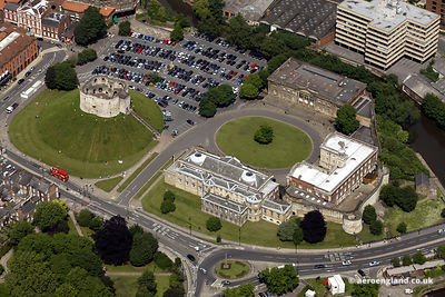 aerial photograph of  York Castle