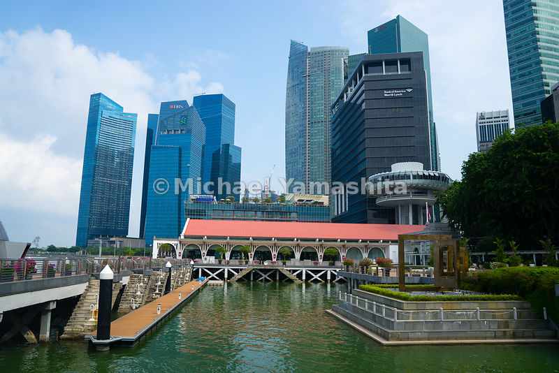 Clifford Pier, Singapore River, The Fullerton Hotel