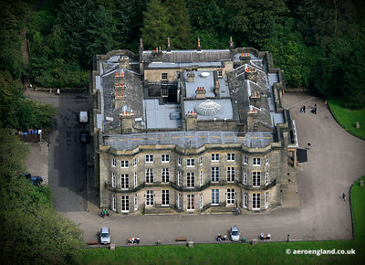 aerial photograph of Haigh Hall  Wigan, Lancashire UK