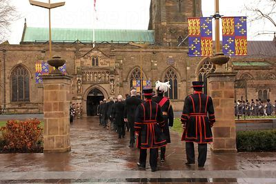 Procession of special guests into Leicester Cathedral