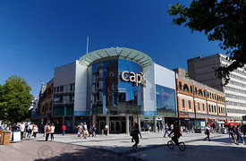 Capitol shopping centre, Queen Street, Cardiff, South Wales, UK.