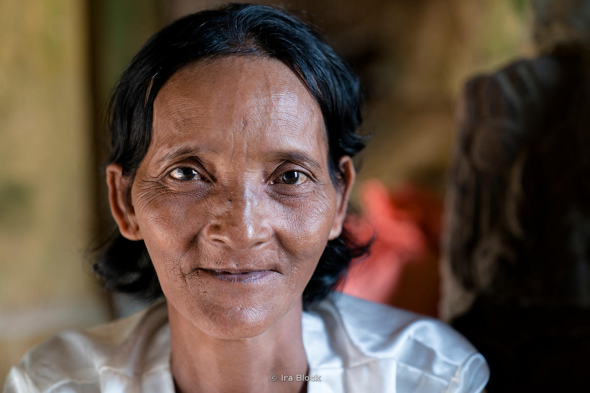 Portrait of a lady in Siem Reap, Cambodia.