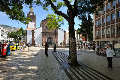 Historical center of Funchal and the Motherchurch. Madeira (MR)