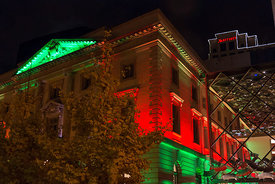 Slover Library Holiday Lights