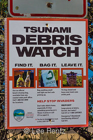 Tsunami Debris Watch Sign along the Oregon Coast