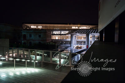 The Acropolis Museum at night - Athens, Greece