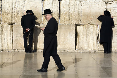 Israel - Jerusalem - Religious Jews praying at the Western ('Wailing') Wall