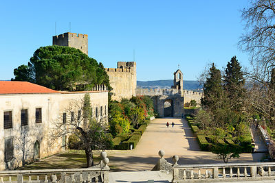 Knights's Templar castle. Convent of Christ, a UNESCO World Heritage Site. Tomar, Portugal