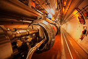Large Hadron Collider tunnel.
