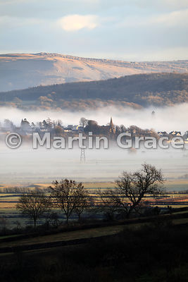 Looking across the Lyth Valley to Levens, Cumbria, England
