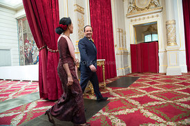 President Hollande Receives Aung San Suu Kyi - Paris