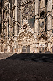 Façade occidentale de la cathédrale de Bourges