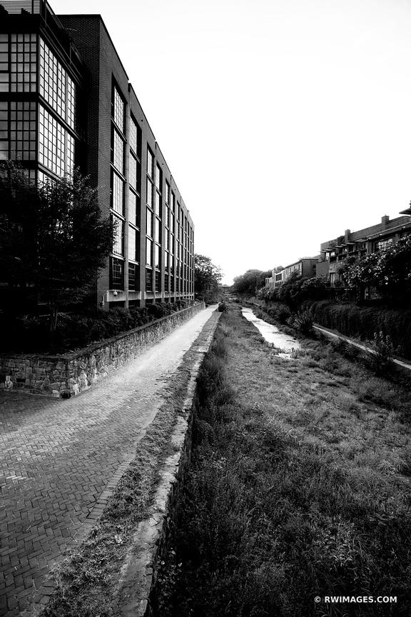 C & O CANAL GEORGETOWN WASHINGTON DC BLACK AND WHITE