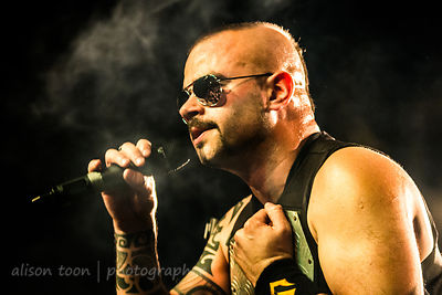 Joakim Brodén, vocals, Sabaton, at the Ace of Spades, Sacramento