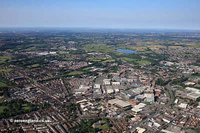 Bury Greater Manchesterfrom the air