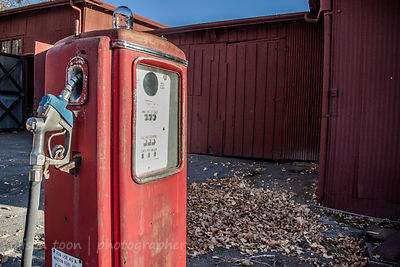 Vintage gas or petrol pump