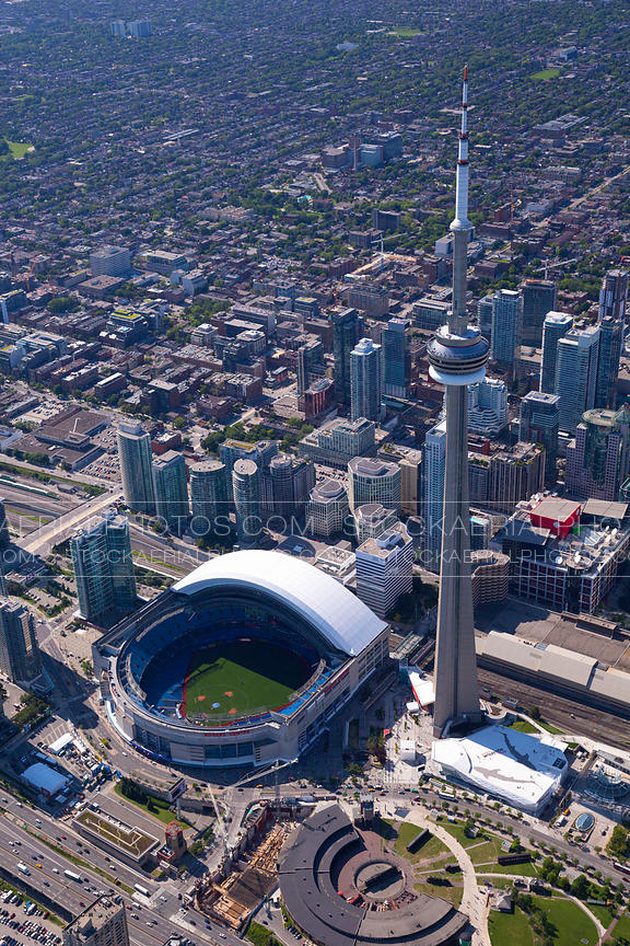 Aerial Photo Cn Tower And Rogers Centre