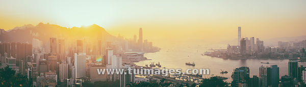 Hong Kong Victoria Harbour sunset