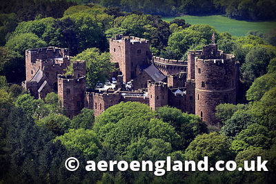 aerial photograph of Peckforton Castle  Cheshire England UK