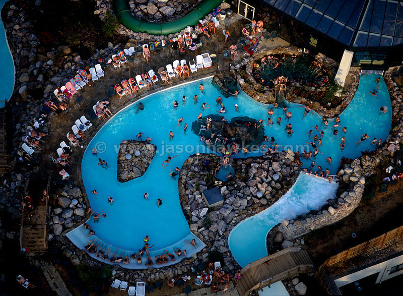 Aerial View Swimming Pools And People Centerparcs Longleat Forest Warminster Jason Hawkes