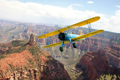 Stearman over the Grand Canyon