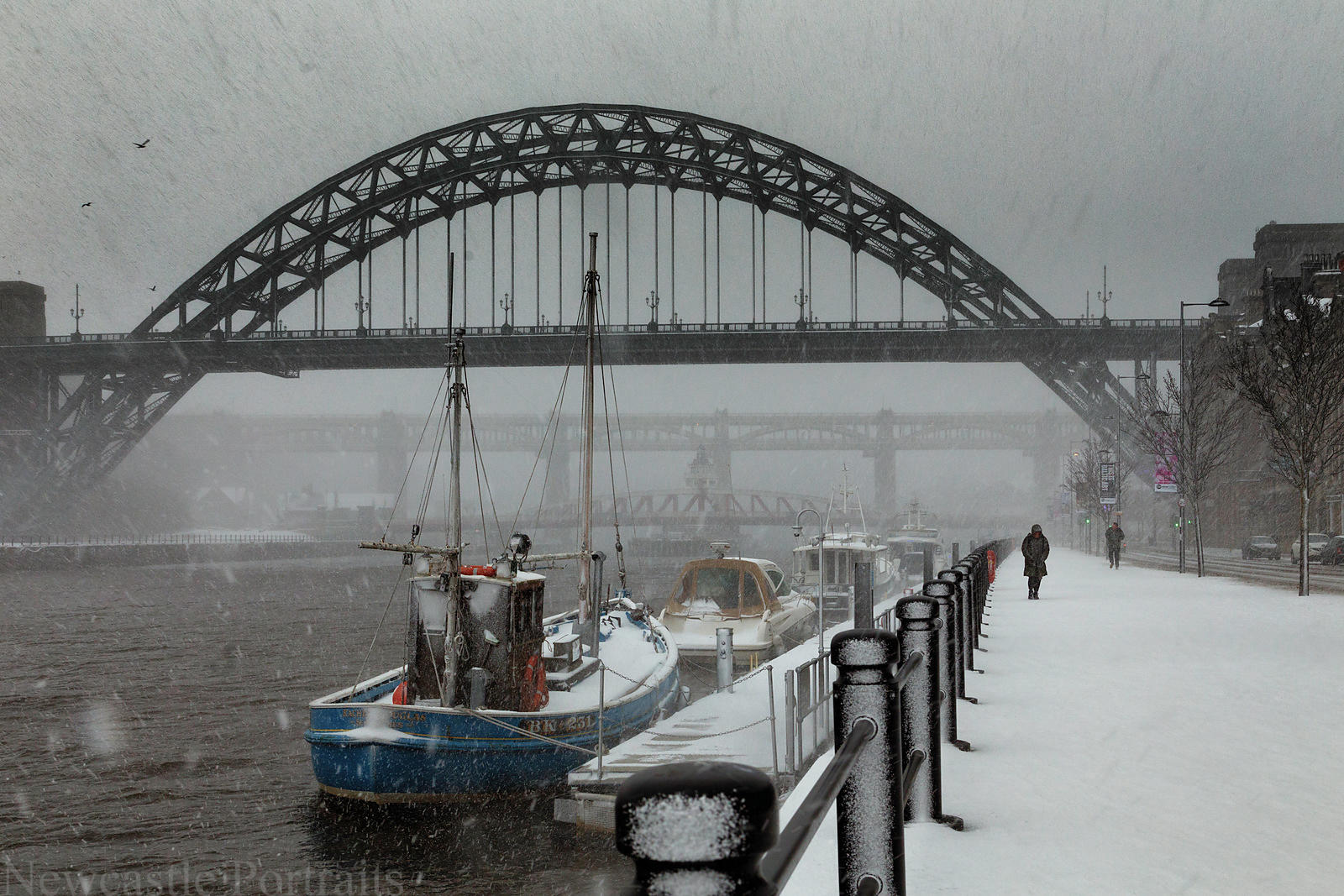 Snow on the Tyne