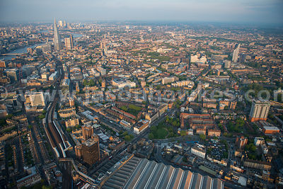 Aerial view over Newington and Southwark, London