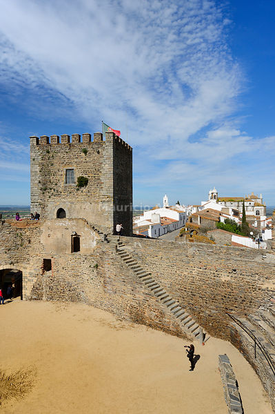The castle of the medieval and historic village of Monsaraz. Alentejo, Portugal