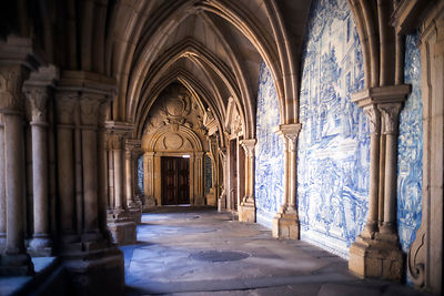 The Cloisters of the Porto Cathedral (The Porto Cathedral (Sé do Porto), Porto, Portugal.