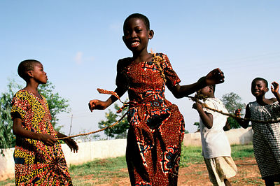 Ghana - Tamale - Street children play in the grounds of a school run by the Youth Alive project