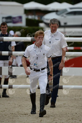 Marcus EHNING ,(GER), Ludger BEERBAUM ,(GER) during Queen's Cup - Segura Viudas Trophy competition at CSIO5* Barcelona at Real Club de Polo, Barcelona - Spain