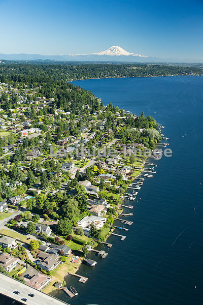 Lake Washington shoreline; Mercer Island, WA, WA