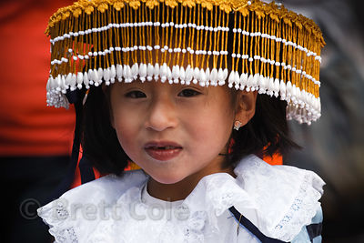 Peruvian girl dressed for Cusco Week festivities, Cusco, Peru