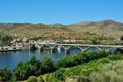 Barca d'Alva and the Douro river. Alto Douro, Portugal