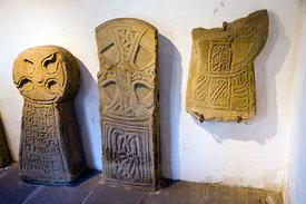 Early Christian Crosses, Margam Stones Museum, Neath Port Talbot, South Wales, UK.