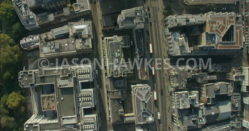 London Aerial Footage of The Strand to The Mall