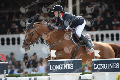 Kevin STAUT ,(FRA),  QURACK DE FALAISE H D C during Longines Cup of the City of Barcelona competition at CSIO5* Barcelona at Real Club de Polo, Barcelona - Spain