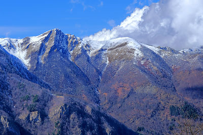 pictures of landscape of the Pyrenees under the snow