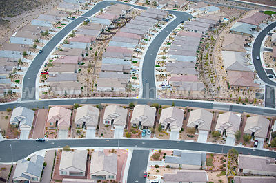 Housing on outskirts of Las Vegas, Nevada.