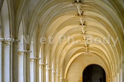 FRANCE, MAINE ET LOIRE, ABBAYE DE FONTEVRAUD // France, Maine et Loire, Fontevraud Abbaye, Loire Valley, Abbey Of Fontevraud, Cloister Ste Mary