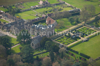Aerial view of Barrow Court, Barrow Gurney, Somerset