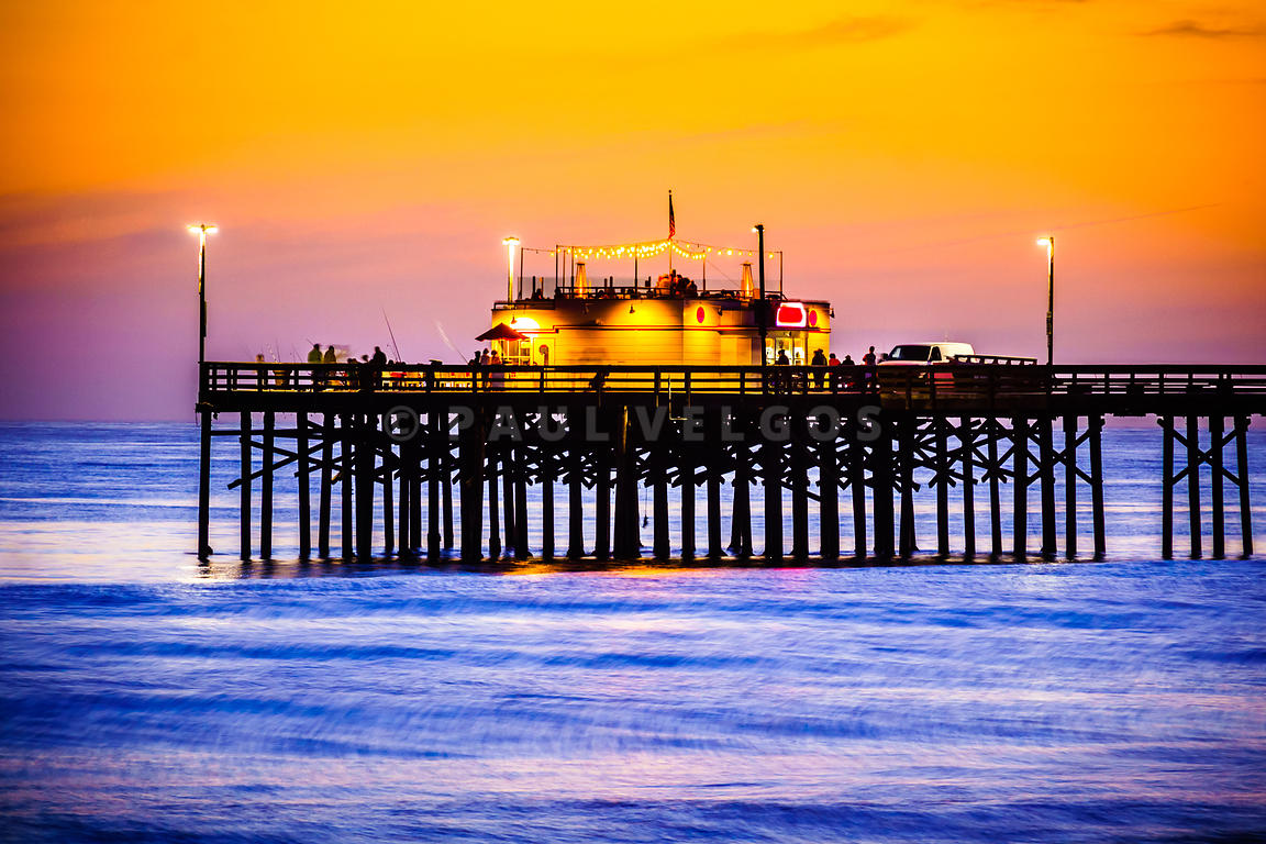 Image balboa pier at sunset picture large canvas print for Newport pier fishing