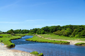 River Ewenny, Ogmore near Bridgend, South Wales.