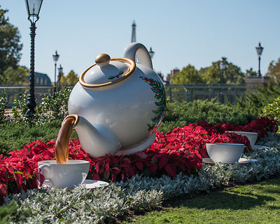 Christmas Tea Cup in the England Pavilion at EPCOT