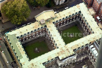 High Angle View of Residential Apartment Building in London
